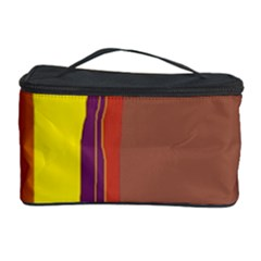 Colorful Lines Cosmetic Storage Case by Valentinaart