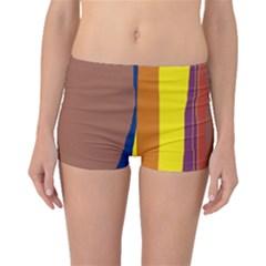 Colorful lines Boyleg Bikini Bottoms by Valentinaart