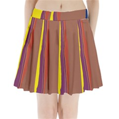 Colorful Lines Pleated Mini Mesh Skirt by Valentinaart