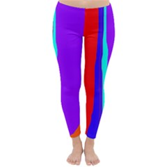 Colorful Decorative Lines Winter Leggings  by Valentinaart