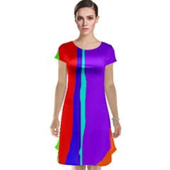 Colorful decorative lines Cap Sleeve Nightdress by Valentinaart