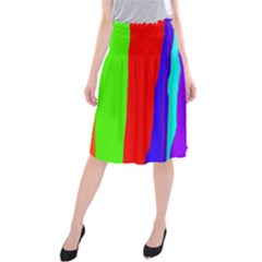 Colorful Decorative Lines Midi Beach Skirt