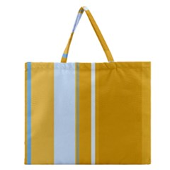 Yellow Elegant Lines Zipper Large Tote Bag by Valentinaart