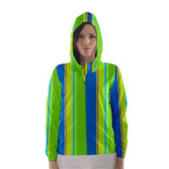 Colorful Lines Hooded Wind Breaker (women) by Valentinaart