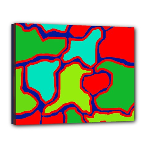 Colorful Abstract Design Canvas 14  X 11  by Valentinaart