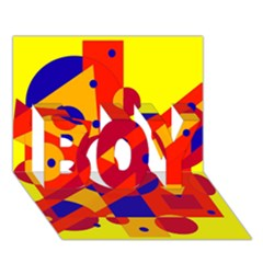 Colorful Abstraction Boy 3d Greeting Card (7x5) by Valentinaart