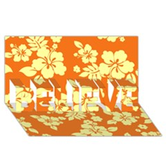 Sunny Hawaiian Believe 3d Greeting Card (8x4)  by AlohaStore