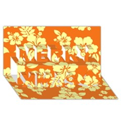 Sunny Hawaiian Merry Xmas 3d Greeting Card (8x4)  by AlohaStore