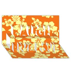 Sunny Hawaiian Laugh Live Love 3d Greeting Card (8x4)