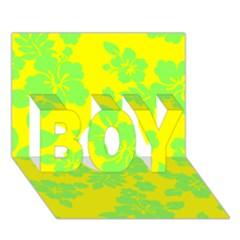 Bright Hawaiian Boy 3d Greeting Card (7x5)