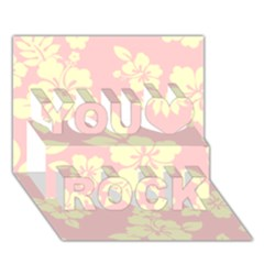 Pastel Hawaiian You Rock 3d Greeting Card (7x5)  by AlohaStore