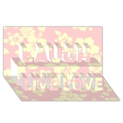 Pastel Hawaiian Laugh Live Love 3d Greeting Card (8x4)  by AlohaStore