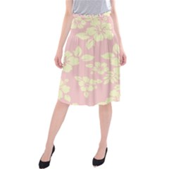 Pastel Hawaiian Midi Beach Skirt