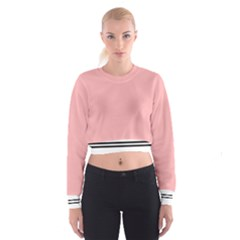 pink Women s Cropped Sweatshirt by Wanni