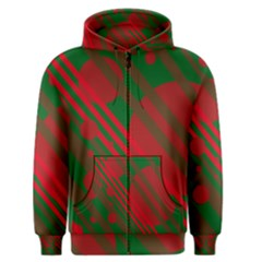 Red and green abstract design Men s Zipper Hoodie by Valentinaart