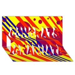 Hot Circles And Lines Congrats Graduate 3d Greeting Card (8x4)  by Valentinaart