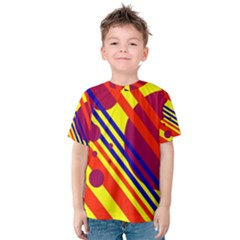 Hot Circles And Lines Kid s Cotton Tee