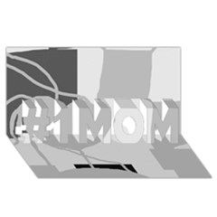 Gray Hart #1 Mom 3d Greeting Cards (8x4)