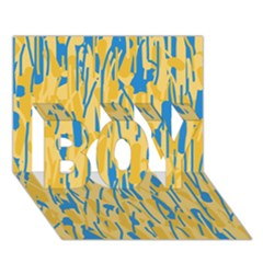 Yellow And Blue Pattern Boy 3d Greeting Card (7x5) by Valentinaart