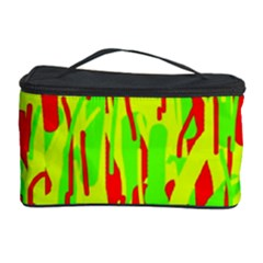 Green And Red Pattern Cosmetic Storage Case by Valentinaart