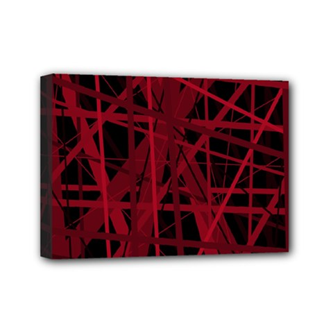 Black And Red Pattern Mini Canvas 7  X 5  by Valentinaart
