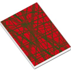 Red Pattern Large Memo Pads by Valentinaart