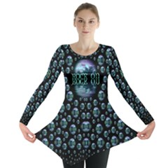 One Woman One Island And Rock On Long Sleeve Tunic  by pepitasart