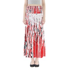 Red, black and white pattern Maxi Skirts by Valentinaart