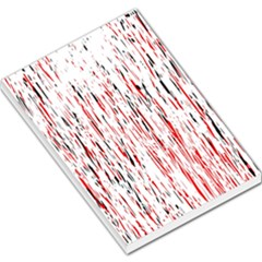 Red, Black And White Pattern Large Memo Pads by Valentinaart