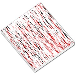 Red, Black And White Pattern Small Memo Pads by Valentinaart