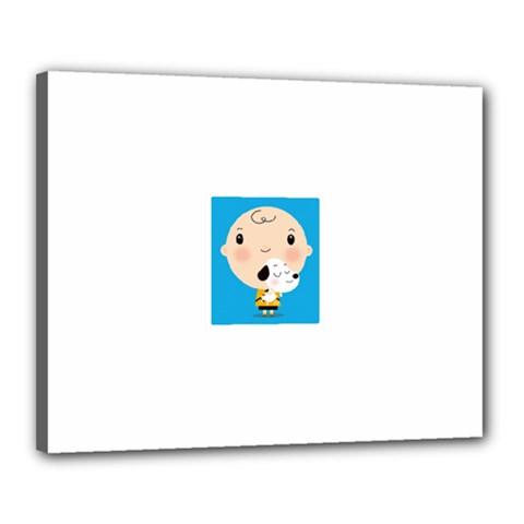 Snoopy Canvas 20  X 16  by Mjdaluz