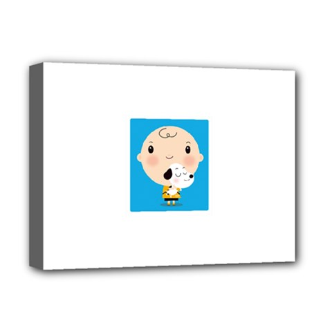 Snoopy Deluxe Canvas 16  X 12   by Mjdaluz