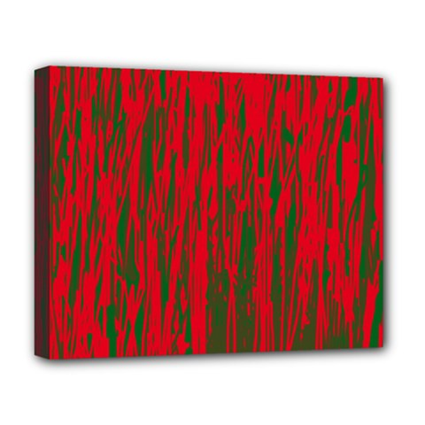 Red And Green Pattern Deluxe Canvas 20  X 16   by Valentinaart