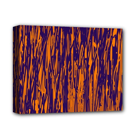 Blue And Orange Pattern Deluxe Canvas 14  X 11  by Valentinaart