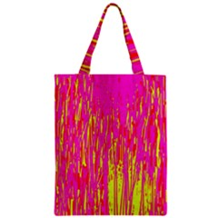 Pink And Yellow Pattern Zipper Classic Tote Bag by Valentinaart
