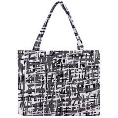 Gray Pattern Mini Tote Bag by Valentinaart