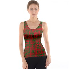 Green And Red Pattern Tank Top by Valentinaart