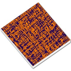 Blue And Orange Decorative Pattern Small Memo Pads by Valentinaart