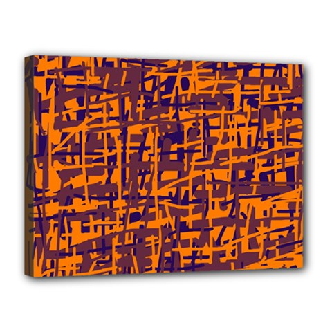 Orange And Blue Pattern Canvas 16  X 12  by Valentinaart