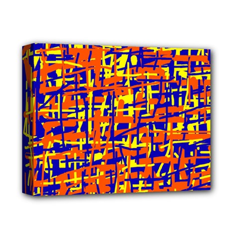 Orange, Blue And Yellow Pattern Deluxe Canvas 14  X 11  by Valentinaart