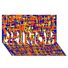 Orange, Blue And Yellow Pattern #1 Mom 3d Greeting Cards (8x4)  by Valentinaart