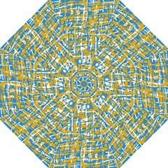 Blue And Yellow Elegant Pattern Folding Umbrellas