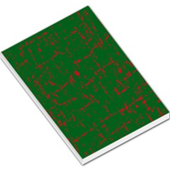 Green And Red Pattern Large Memo Pads by Valentinaart