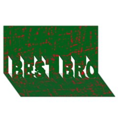 Green and red pattern BEST BRO 3D Greeting Card (8x4)  by Valentinaart