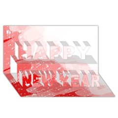 Red Pattern Happy New Year 3d Greeting Card (8x4)  by Valentinaart