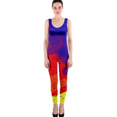 Colorful Pattern Onepiece Catsuit by Valentinaart
