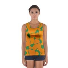 Orange Shapes                                                                                        Women s Sport Tank Top
