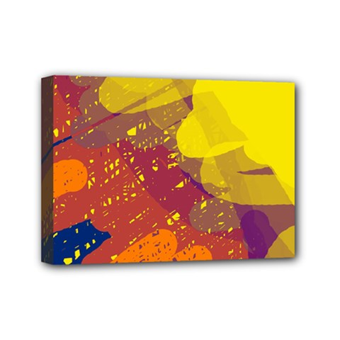 Colorful Abstract Pattern Mini Canvas 7  X 5  by Valentinaart