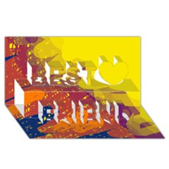 Colorful Abstract Pattern Best Friends 3d Greeting Card (8x4)  by Valentinaart