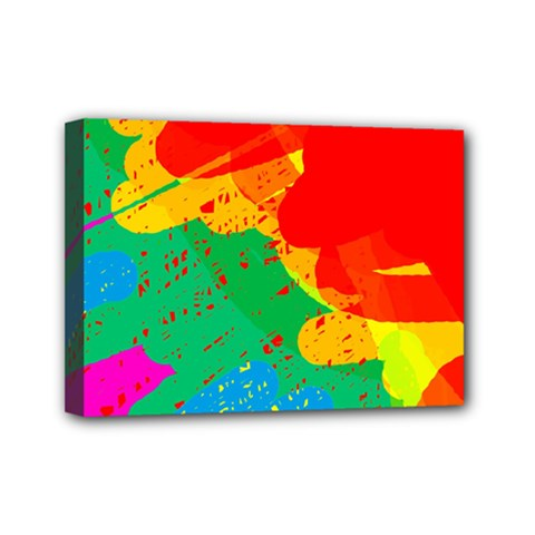 Colorful Abstract Design Mini Canvas 7  X 5  by Valentinaart